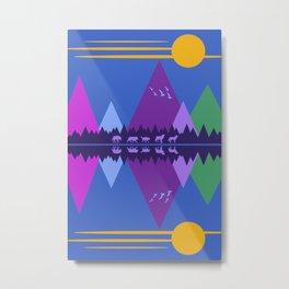 Wolf Pack Passage Metal Print