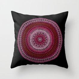 All Pink Mandala Throw Pillow