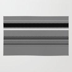 Gray Stripes Abstract Rug