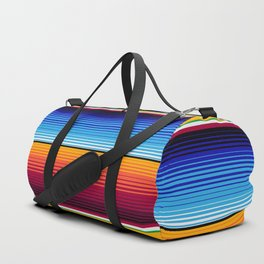 Traditional Mexican Serape in Yellow Multi Duffle Bag