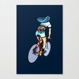 Fixie Girl Canvas Print