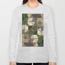 brown green sqaure Long Sleeve T-shirt