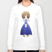 bioshock infinite Long Sleeve T-shirts featuring Bioshock Infinite - Elizabeth Angel by Choco-Minto
