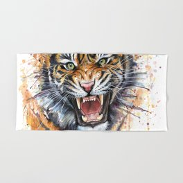 Tiger Roaring Wild Jungle Animal Hand & Bath Towel