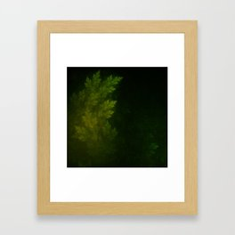 Beautiful Fractal Pines in the Misty Spring Night Framed Art Print