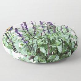 Flowers in the garden Floor Pillow
