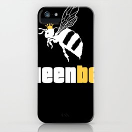 Queen Bee Shirt Fly Insect Wasp Crown Women Tee iPhone Case