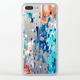 Abstract 187 Clear iPhone Case