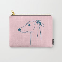 Italian Greyhound (Pink and Blue) Carry-All Pouch