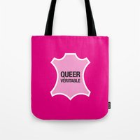 queer Tote Bags featuring Queer Véritable by justasign