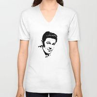 garfield V-neck T-shirts featuring John Garfield Is Class by Stars Live Forever