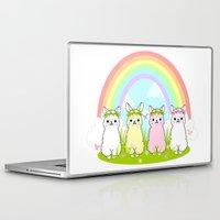 alpaca Laptop & iPad Skins featuring Alpaca Paradise by rinicake