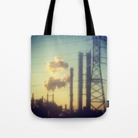 industrial Tote Bags featuring Industrial  by Mazin_isa