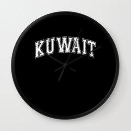 Kuwait City Capital of Kuwait Wall Clock