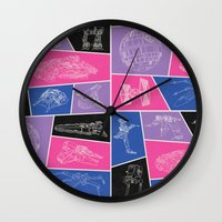 ships Wall Clocks featuring Ships by Dorothy Leigh