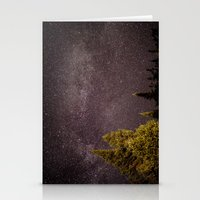 milky way Stationery Cards featuring Milky way by Simon Laroche