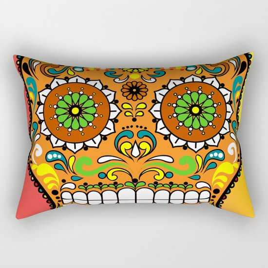Sugar Skull #8 Rectangular Pillow