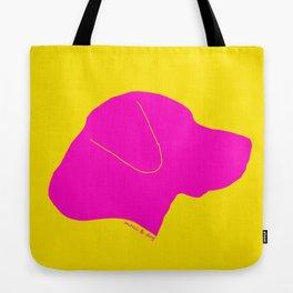 LABRADOR PINK ON YELLOW Tote Bag