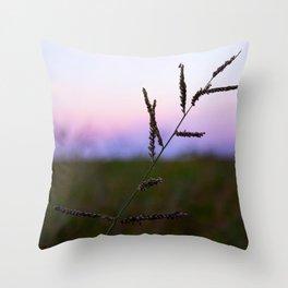 Grass Seed Sunset Throw Pillow