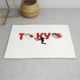 Tokyo, Football team and Portugal Rug