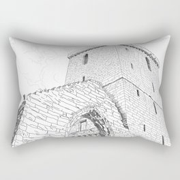 St Serf's Tower, Dysart, the Kingdom of Fife, Scotland. Rectangular Pillow