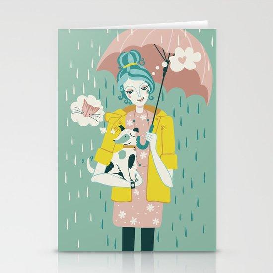 Walking the Dog Stationery Cards