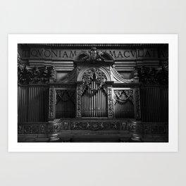 Church Organ Art Print