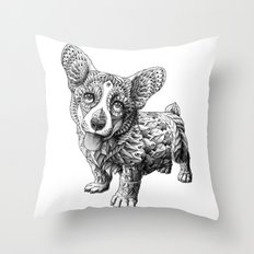 Corgi Puppy Throw Pillow