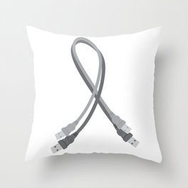 USB Awareness Ribbon Throw Pillow