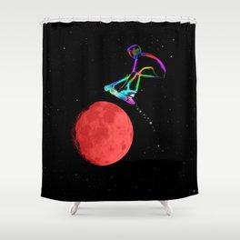 Moon Grabber - Stunt Scooter Rider Shower Curtain