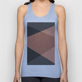 Black , brown ,abstract , geometric Unisex Tank Top