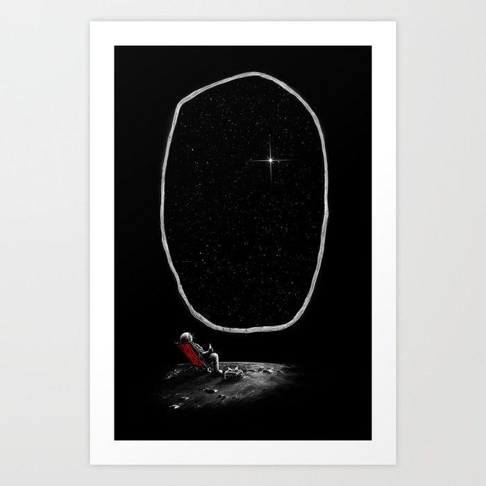 Space Chill Kunstdrucke