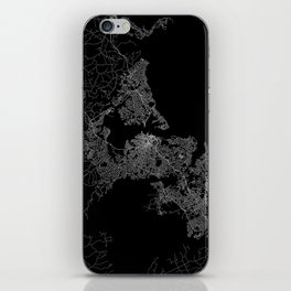 Auckland map New Zeland iPhone Skin