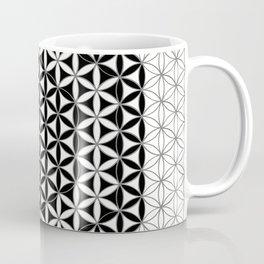 Flower-of-Life Black White 2 Coffee Mug