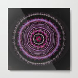 Colorful Magic Color Mandala Metal Print