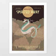 Minimalist Spirited Away Art Print