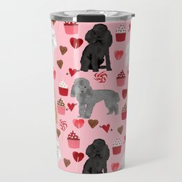 Toy Poodles mixed coat valentines day cupcakes love hearts dog breed gifts pet portraits must haves Travel Mug