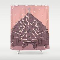 steven universe Shower Curtains featuring Steven Universe Temple by PLutos Dream Catcher