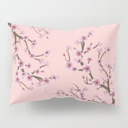 Cherry Blossom Branch Pillow Sham