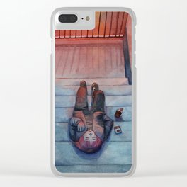"watercolor painting / ""secret place"" Clear iPhone Case"