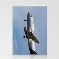 brussels Stationery Cards featuring Brussels airlines Airbus A319 by David Pyatt
