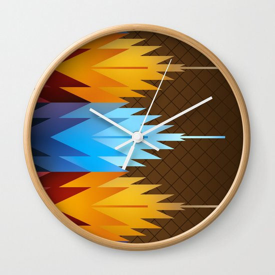 Navajo Fire & Ice Wall Clock