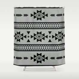 Abstract Tribal Native Geometric Pattern Shower Curtain