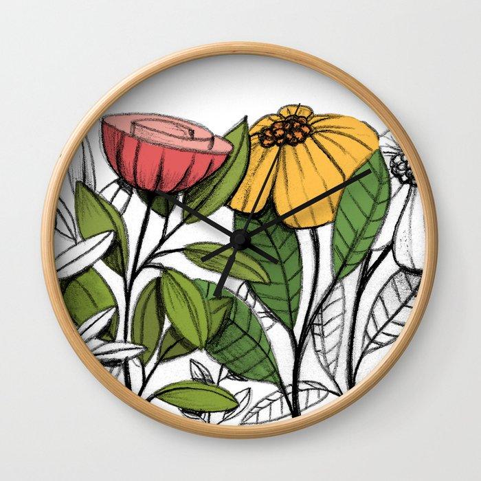First summer blooms Wall Clock