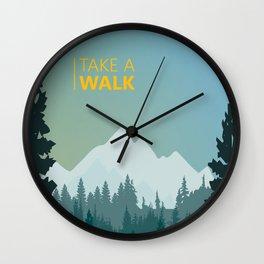Take a walk Wall Clock
