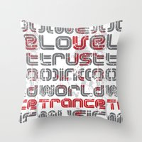 paramore Throw Pillows featuring Trust in Trance Music by Sitchko Igor