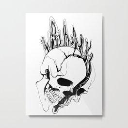 Skull #8 (Spill) Metal Print