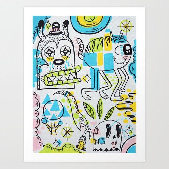 Shape Shifters Art Print