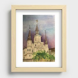 St. Louis Cathedral Recessed Framed Print
