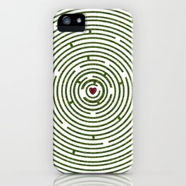 The maze to your heart iPhone Case